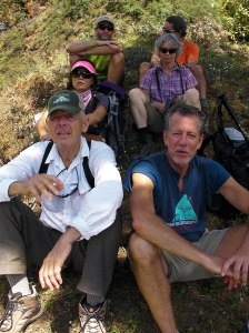 Taking a break near Basa in October 2011