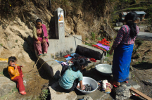 Typical water supply for a Nepali village